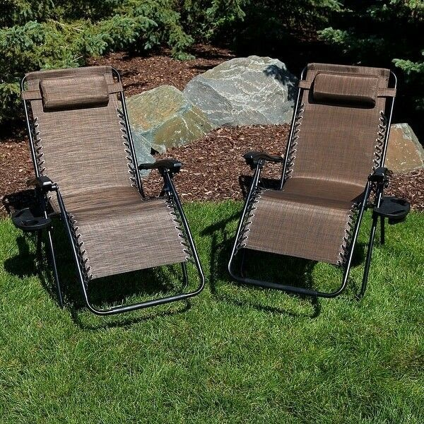 Dark Brown Oversized Lounge Chair, Set Of 2 Home Seating Outdoor