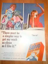 Vintage Salvo Laundry Detergent Print Magazine ... - $5.99