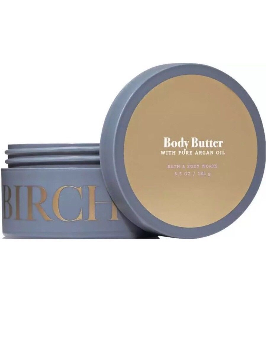 Bath & Body Works Birch & Argan Body Butter With Pure Argan Oil 6.5 oz New