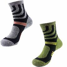 PANDA SUPERSTORE Set of 2 Mens Quick-Dry Socks Thick Outdoor Sports Sock... - £16.53 GBP