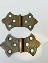 Vintage Brass Ornamental Hinges - $3.74