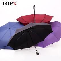 TopX® New Full Automatic Umbrella Rain Women Men 3Folding Light And Dura... - $19.44