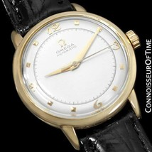 1953 OMEGA Vintage Mens Automatic Watch - 14K Gold - Restored Mint with Warranty - $1,073.10