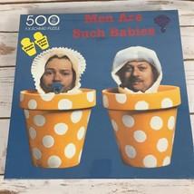 Men Are Such Babies Puzzle 500 PC 34x26 Flower Pots Michael Patrick - $14.55
