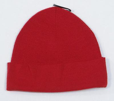 1627103767992 Ralph Lauren Red Merino Wool Cuff Beanie Skull Cap Big Pony Mens One Size  NWT