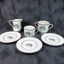 Phillip Crowe Rainbow Trout Wildlife Series Cup Cup & 3 Saucers, Creamer... - $17.77