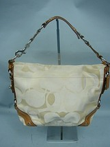 Coach Tan Carly Optic Signature Tote Style #11960 - Retail $228 - $54.40