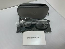 Emporio Armani Ea 3165 5800 Matte Gray Rx Eyeglass Frames 55-19-145 Brand New - $77.39