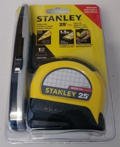"Stanley STHT72600 25' LeverLock 1"" Tape Measure With Auto Blade Lock & K... - $10.89"