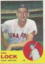 1963 Topps Don Lock 47 Senators - $2.50