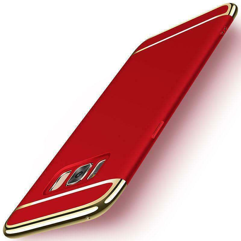 Red Gold Hard Case for Samsung S8 - Shockproof Heavy Duty Protective Cover USA