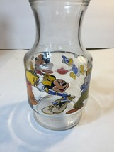 "Disney Mickey Mouse Large Glass Lemonade/Iced Tea Jar Container 56 fl. oz. 9"" - $26.50"