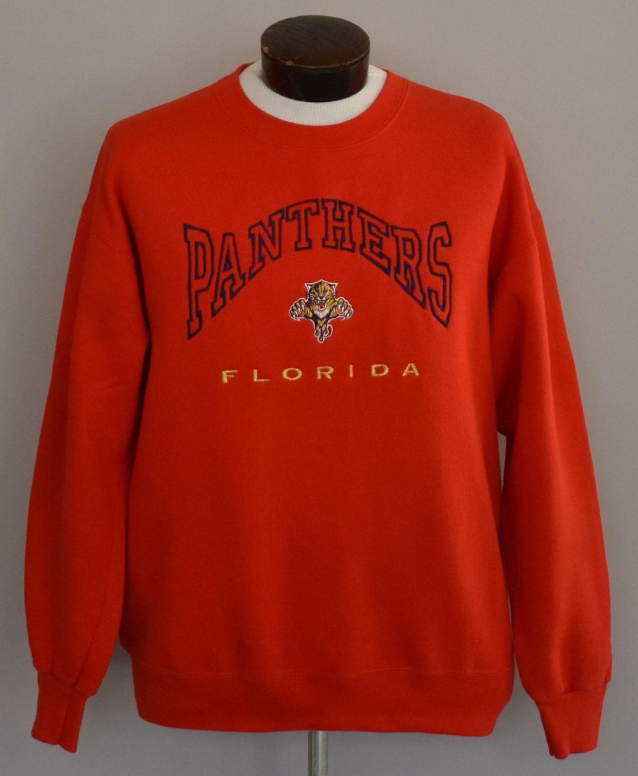 90s Florida Panthers Embroidered Crewneck Sweatshirt Size Hipster Large to XL