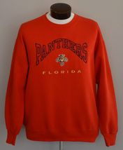 90s Florida Panthers Embroidered Crewneck Sweatshirt Size Hipster Large ... - $34.99