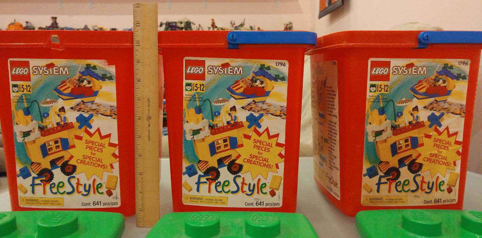 LEGO LOT OF 20 REDDISH BROWN CONTAINER BUCKETS BOX PIECES