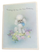 Vintage Birthday Poodle Card by American Greetings Corp Dog Animal Greet... - $4.95