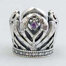 Authentic Pandora Disney Anna's Crown Charm, 925 Silver w/ CZ, 791589ACZ New - $56.04