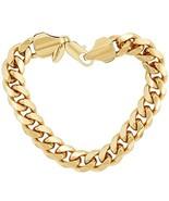 Lifetime Jewelry Cuban Link Bracelet 11MM, Round, 24K Gold Overlay Premi... - $55.65