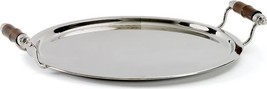 Tray Round Bamboo Polished Nickel Brass New GH-319 FREE - $339.00