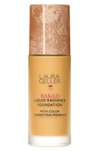 laura geller Sealed Box baked liquid radience foundation tan/ Color Corr... - $17.80