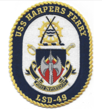 "5"" NAVY USS HARPERS FERRY LSD-49 EMBROIDERED PATCH - $17.09"