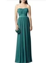 Dessy 2860......Full length, Strapless, Chiffon Dress.......Jade....Size 8 - $69.29