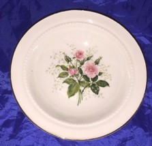 Hall HEATHER ROSE 5 1/8 Inch Fruit Berry Bowl Pink Roses Cottage 19886 - $4.99