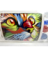 """Colorful Cat DIY Paint By Numbers 16"""" x 20"""" Canvas Painting w/ Frame  - $29.65"""