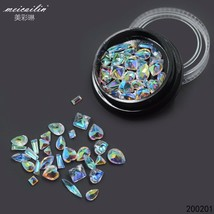 Crystal Clear Holographic Ab Non Hotfix Nail Rhinestones For Nails 3d Na... - $4.39