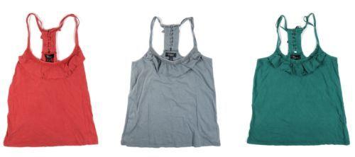 Silver Jeans Co. Junior Women's Spaghetti Tank Top Shirt Tee Vintage-Wash NEW