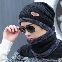 Knit Winter Cap And Neck Warmer Scarf Set Thermal Baggy Beanie Unisex Ou... - $11.99