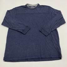Mountain Ridge T Shirt Men's 2XL XXL Long Sleeve Navy Crew Neck Cotton Blend - $17.99