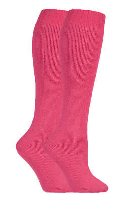 Ladies Outdoor Wool Long Wellington Boot Gardening Socks Size 4-7 Uk Hot Pink