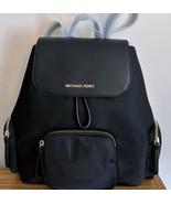 Michael Kors Abbey Large Cargo Backpack ~ Black Nylon & Leather NWT - $129.95