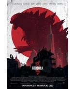 "GODZILLA - 13""x19"" Original Promo Movie Poster 2014 Imax Version - $24.49"