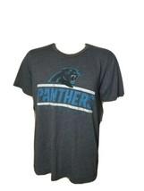 Carolina Panthers Spellout Tee Shirt Gray Blue Distressed NFL Team Apparel  - $16.66