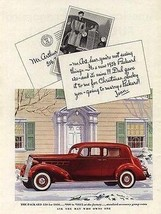 1936 PACKARD 120 Red White Walls Chrome Grill Auto AD - $9.99