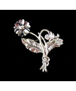 Vintage Sterling Silver Lang Floral Pin Brooch - $36.67