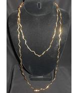 "Alexis Kirk Necklace Zig Zag Wavy Layered Necklace Set Of 2  19"" & 31"" - $52.25"