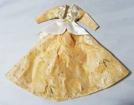 Barbie Outfit Clothes Evening Dress Gown Princess Gold 3 Piece - $9.95