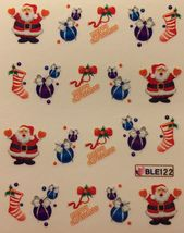 BANG STORE Nail Art Water Decals Merry Christmas Santa Ornament Stocking... - $2.12