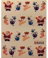 BANG STORE Nail Art Water Decals Merry Christmas Santa Ornament Stocking... - $2.12