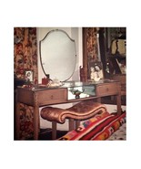 Vintage Art Deco 1920s Oak Vanity Mirrored Dressing Table matching Bench Shabby - $2,400.00