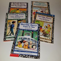 5 Horrible Harry PBK Book Lot Suzy Kline Goes To Sea Ant Invasion Dragon... - $13.81