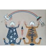 "Rare Joe Smith ""Father Sky, Mother Earth"" Navajo Yeis Sand Painting Fram... - $970.74"
