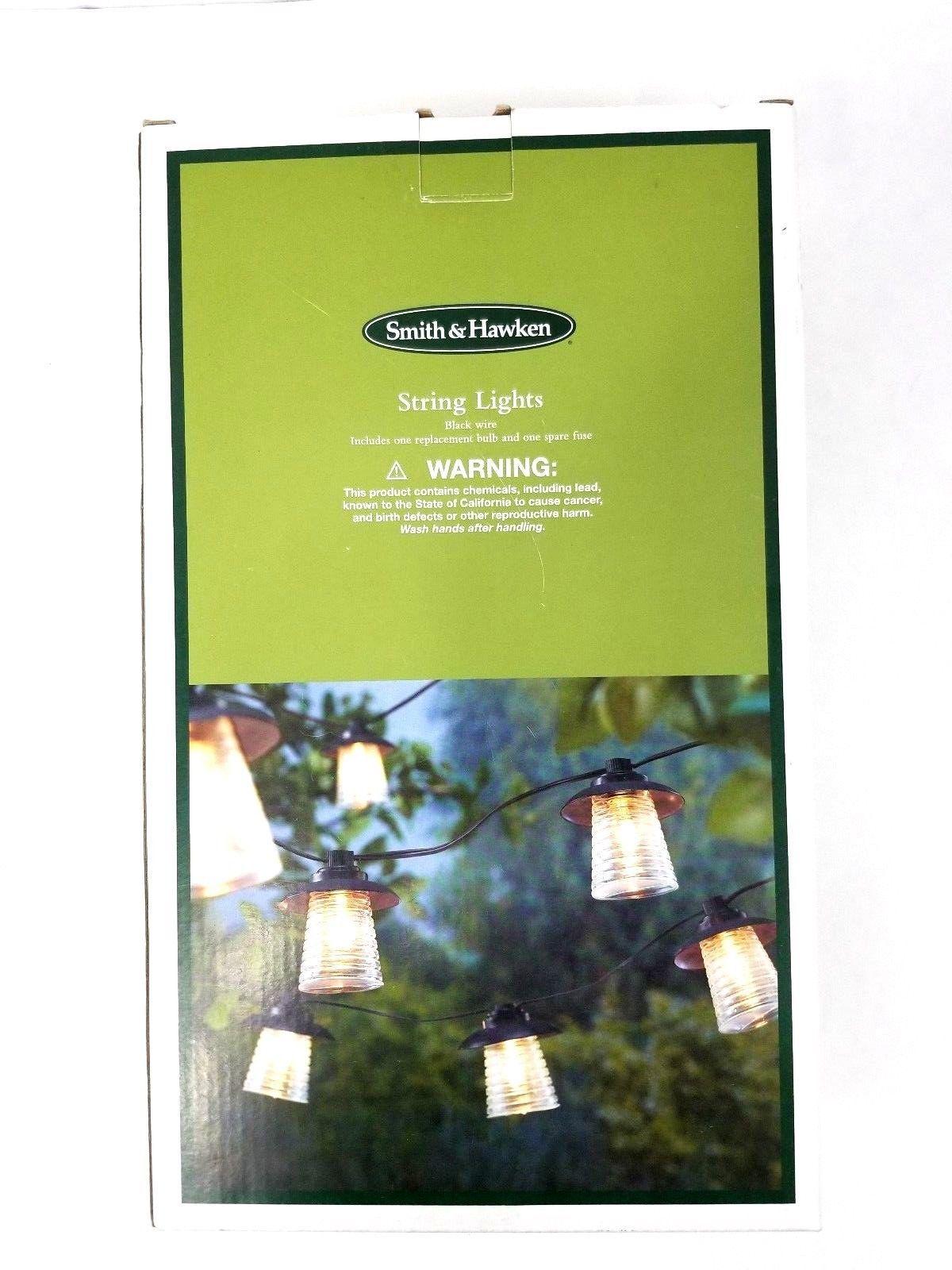 2 Smith & Hawken 10-Light Indoor/Outdoor String Lights 10 Lights ea Box 20 Total