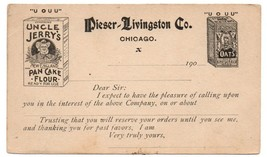 Prepaid Postal card Pieser Livingston Co. Uncle Jerry's Oats Chicago Pos... - $20.00
