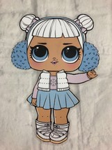 LOL Doll SNOW ANGEL Laminated Paper Doll Decoration Gift New - $8.60