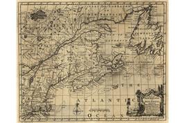 Map of New England & Nova Scotia, Newfoundland, Cape Breton; Antique Map - $26.72+
