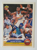 1992-93 Upper Deck Dikembe Mutombo card in EX/NM+ Condition - $2.92